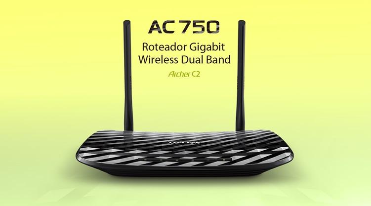 Roteador TP-Link Dual Band AC750 Archer C2