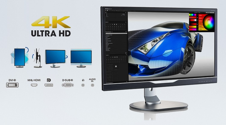 Monitor Philips 288P6LJEB Ultra HD 4K
