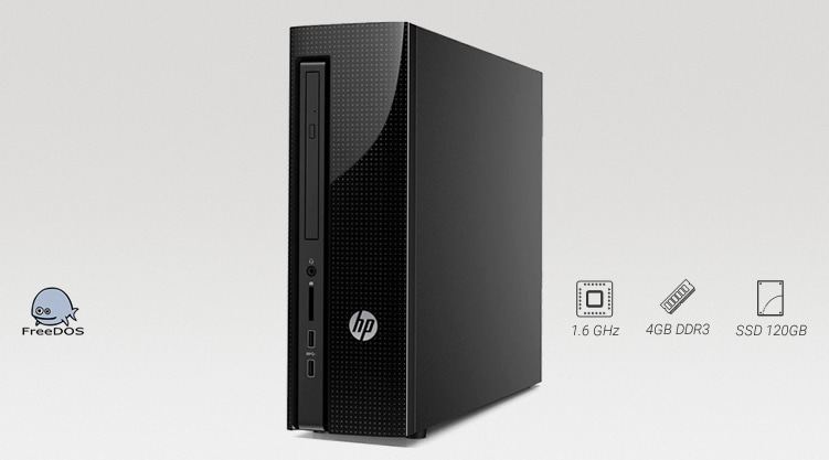 HP 200 G1 Slim Tower com SSD