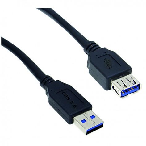 Cabo Extensor USB A (macho) para A (fêmea) 3.0 - 1.8 Metros