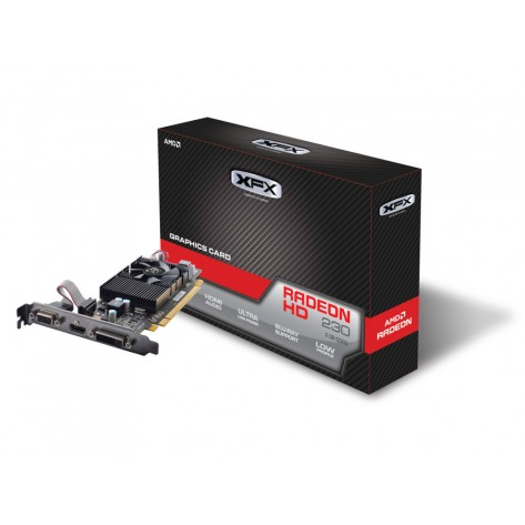Placa de vídeo XFX AMD Radeon R5 230 - 2GB 128 bits DDR3 - PCI-Express 3.0 - Low Profile