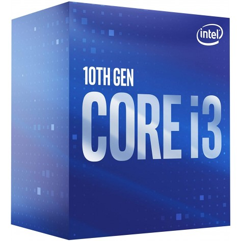 Processador Intel Core i3-10100F BX8070110100F - Cache 6MB, 3.6GHz (4.3GHz Max Turbo) - LGA 1200