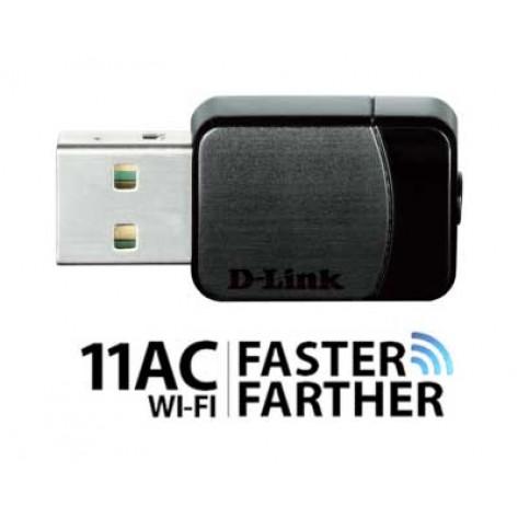 Adaptador Nano Wireless USB - D-Link DWA-171 AC600 - Dual Band