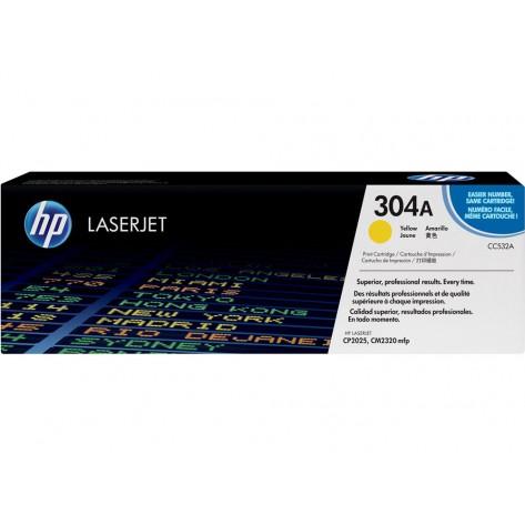 Toner Amarelo HP Color LaserJet 304A - CC532A