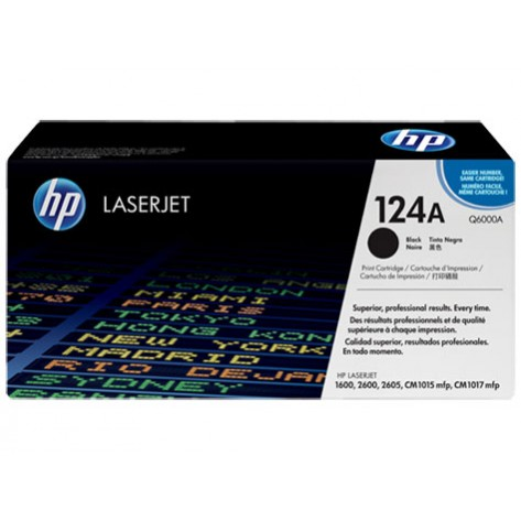 Toner Preto HP LaserJet 124A - (Q6000A)