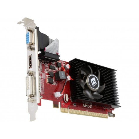 Placa de Vídeo PowerColor AMD Radeon R5 230 - 2GB DDR3 64bit - PCI Express 2.1