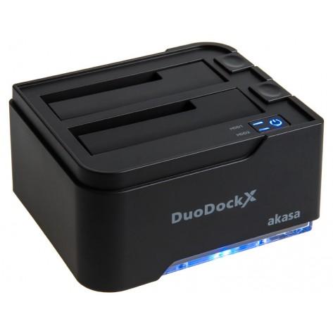 "Dock Station Akasa AK-DK05U3-BKBR - para HD 2,5"" / 3,5"" SATA - USB 3.0"