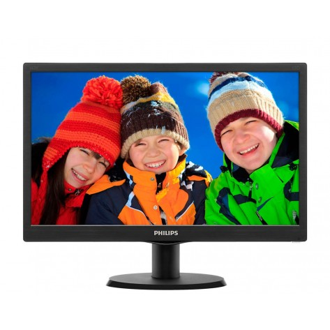 "Monitor 23,6"" Philips LED - 243V5QHABA - Full HD - (1920 x 1080)"