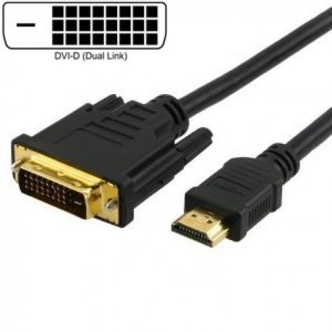Cabo DVI para HDMI - 5 Metros