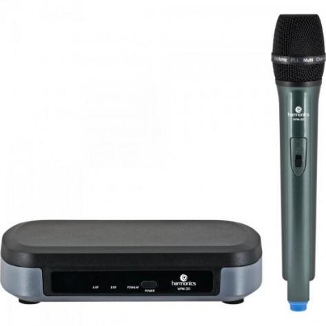 Microfone sem Fio Harmonics WPM-301 UHF - Preto