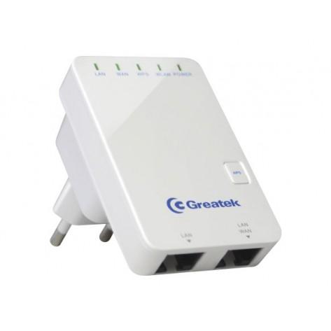 Roteador e Repetidor Greatek Portátil WR3300N - Wireless 300 Mbps