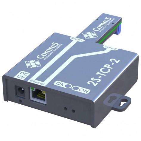 Conversor de rede Comm5 2S-TCP-485-2 - Para 1 saída serial RS232 e 1 serial RS485