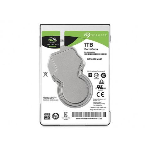 HD 2.5'' Notebook 1TB Seagate BarraCuda ST1000LM035 - 5400RPM - 128MB Cache - SATA 6Gb/s