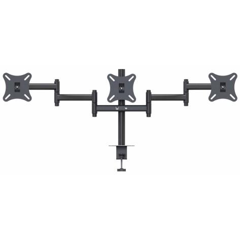 Suporte de mesa com garra para 3 monitores de LCD e LED de 10'' até 24'' - SMT-1024G