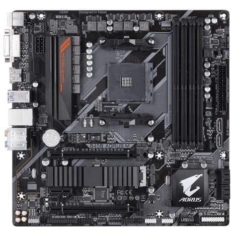 Placa Mãe Gigabyte B450 AORUS M - Chipset B450 - (DDR4, M.2, HDMI, USB 3.1 Gen2) - Soquete AM4