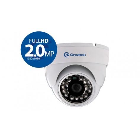 Câmera Dome Greatek SDME33620H para Segurança Eletrônica com Infra-Vermelho 2.0 Mp 30M 3.6MM - 1080p