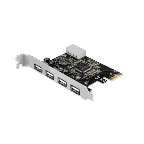 Placa PCI-E - 4 portas USB 2.0 - Comtac