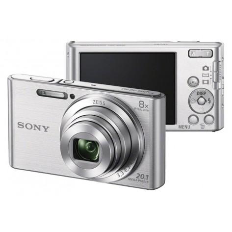 "Câmera Digital Sony DSC-W830 - Prata - 20,1 MP Visor 2.7"" Filma em HD"
