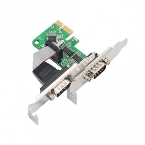 Placa PCI Express 1x Comtac 27119348 - Low Profile - 2 portas Seriais