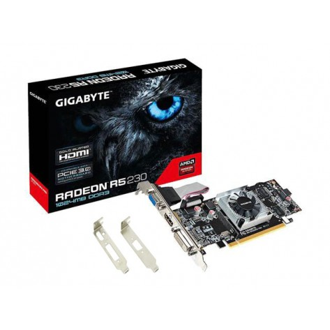 Placa de Vídeo Gigabyte R5 230 AMD Radeon - 1GB DDR3 64 bits - PCI-Express 2.0 - Low Profile