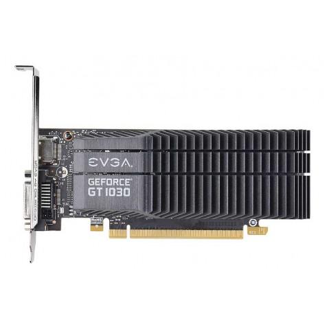Placa de Vídeo eVGA GeForce GT 1030 SC - 2GB 64-bit GDDR5 - PCI Express 3.0 - Low Profile