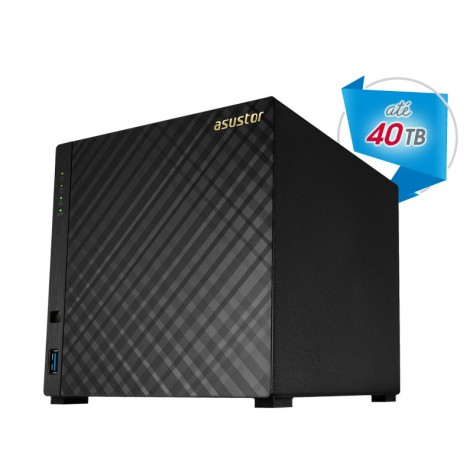 NAS Asustor AS1004T - 4 Baias (Sem disco) - Marvell - Dual Core 1,0 GHZ - 512MB DDR3