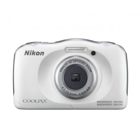 """Câmera Digital Nikon COOLPIX W100 - Prata - 13.2 MP Visor 2.7"""" Filma em Full HD - WiFi - À prova d'água"""