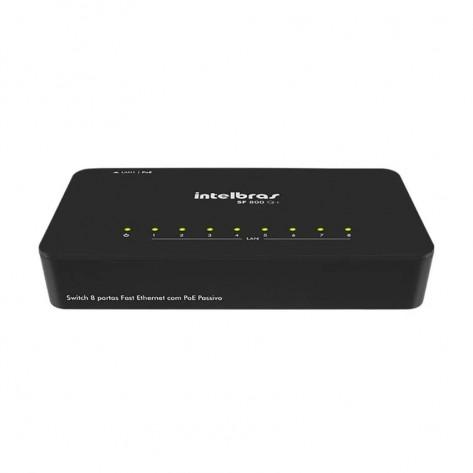 Switch Intelbras SF 800 Q+ - 8 portas 10/100/Mbps