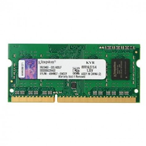 Memória para Notebook Kingston - 4GB (1x4GB) DDR3L 1600MHz Low Voltage