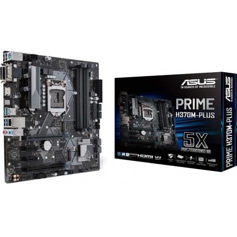 Placa Mãe Asus PRIME H370M-PLUS - DDR4 para Intel Soquete 1151 (Som, Vídeo, Rede, USB 3.0)