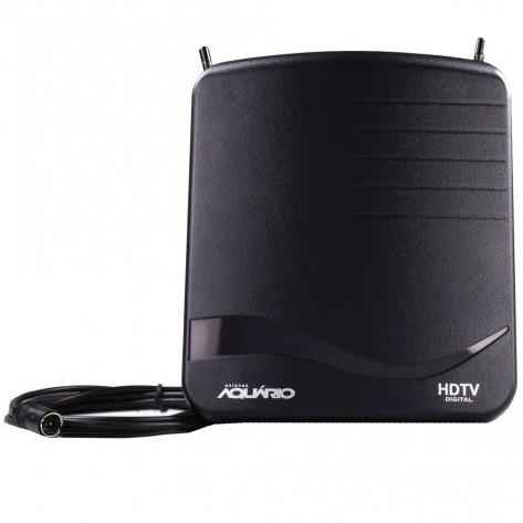 Antena digital interna Aquário DTV1100 para TV - VHF UHF FM e HDTV
