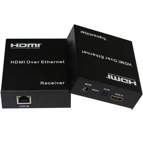 Extensor HDMI Full HD via cabo de rede Cat5 Cat6 - até 120 Metros