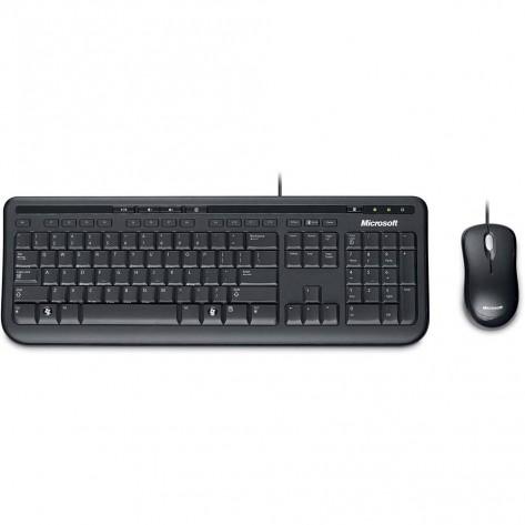 Teclado e Mouse com fio USB - Microsoft Wired Desktop 600