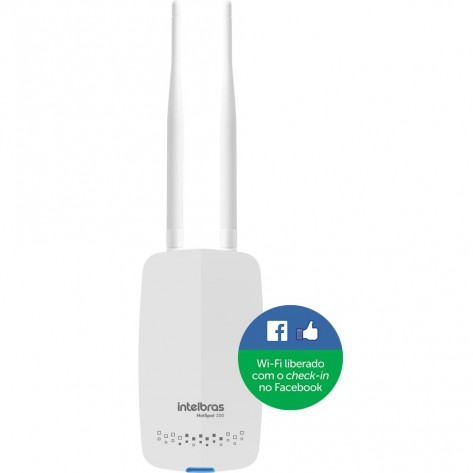 Roteador Intelbras Hotspot 300 - Wireless com check-in no Facebook - 300 Mbps