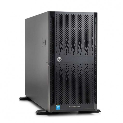 Servidor HPE ProLiant ML350 Gen9 - Processador 2 x Xeon E5-2630 v4 - 32GB RAM (2 x 16GB) - HD 4TB (2 x 2TB) 6G 7.2k LFF - (754537-B21)