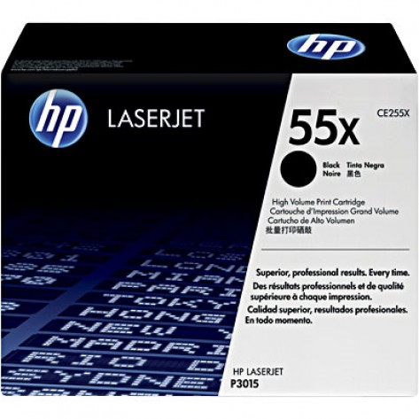 Toner Preto HP LaserJet 55X - (CE255X) - Alto rendimento