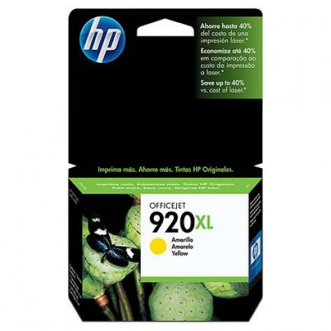 Cartucho Colorido de tinta Officejet amarelo HP 920XL (CD974AL)