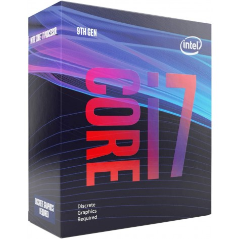 Processador Intel Core i7-9700F BX80684I79700F - Coffee Lake, Cache 12MB, 3GHz (4.7GHz Max Turbo), Sem Vídeo - LGA 1151