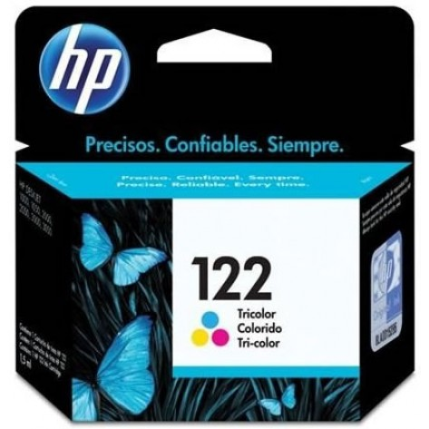 Cartucho colorido de impressão Inkjet tricolor HP 122 (CH562HB)