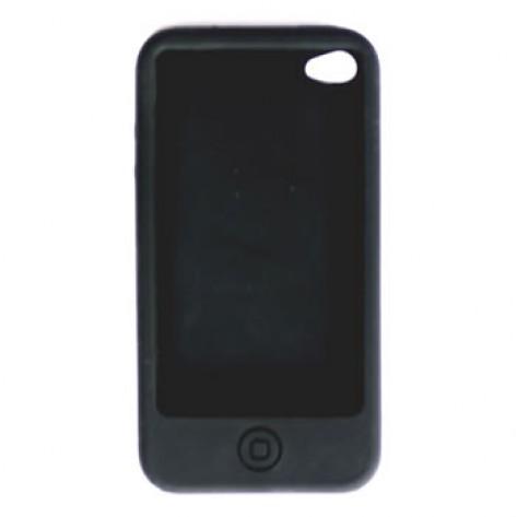 Capa para iPhone 4 Geonav IPH4-01SB - Silicone (lisa) - Preto