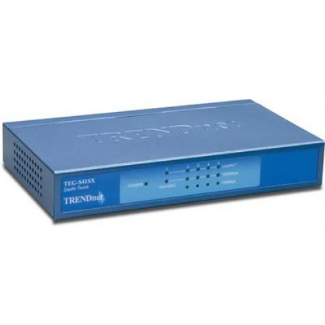 Switch TRENDnet TEG-S41SX 4-portas 10/100/1000 + 1-porta Mini-GBIC