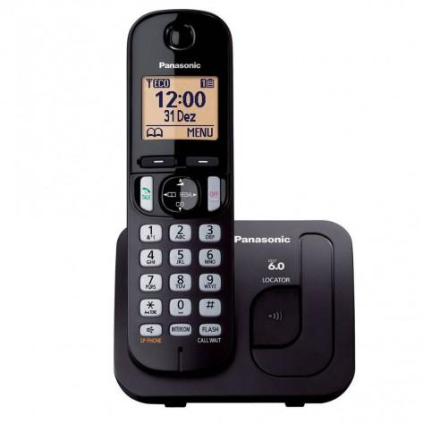 Telefone Sem Fio Panasonic KX-TGC210LBB - DECT 6.0 Ident. de Chamadas - Viva-Voz