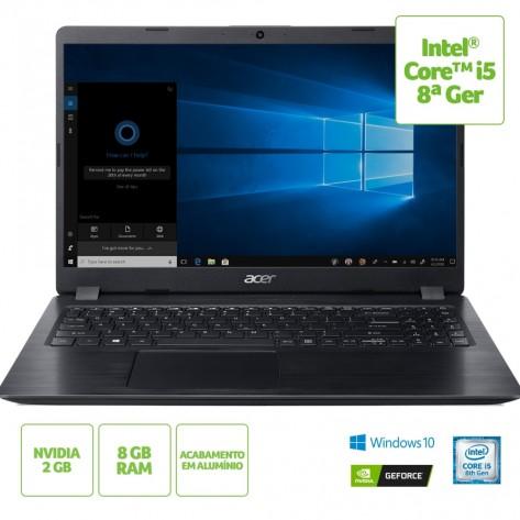 "Notebook Acer Aspire 5 A515-52G-58LZ - Intel Core i5-8265U - Tela 15.6"" HD - 8GB RAM - 1TB HD - GeForce MX130 2GB GDDR5 - Windows 10 Home"