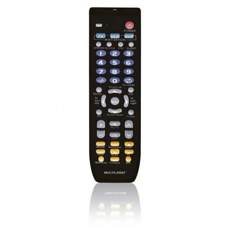 Controle Remoto Multilaser AC088 - Universal 3 Em 1 - Preto