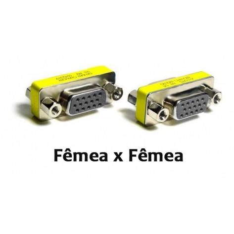 Conector de emenda VGA DB-15 (Fêmea/Fêmea)