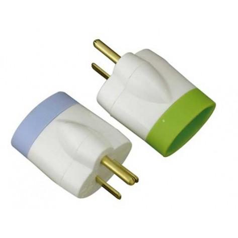 Adaptador Universal de Tomadas NBR 14136 para 2P+T - Novo para o antigo