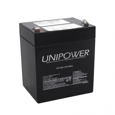 Bateria Selada Unipower Up1250 - 12V - 5AH