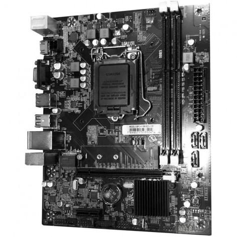 Placa Mãe Brazil PC BPC-H110M-SD3 v1.01 - Chipset H110 - (DDR3, Single M.2, HDMI, USB 3.0) - Soquete 1151