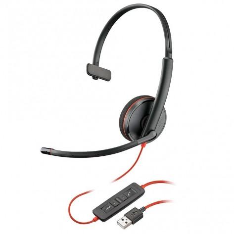 Fone de Ouvido Headset Plantronics Blackwire C3210 - USB-A