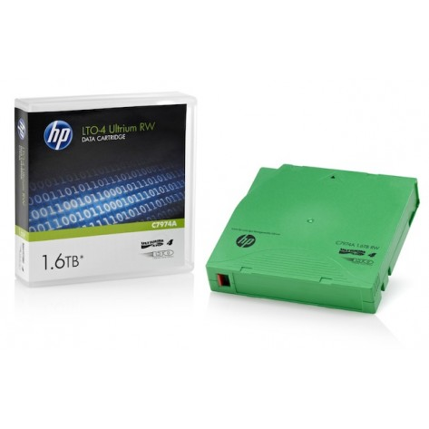 Cartucho de Dados HP LTO4 Ultrium (C7974A) 1.6TB 800/1600GB - C7974A